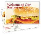Food & Beverage: Fast Food Postcard Template #01741