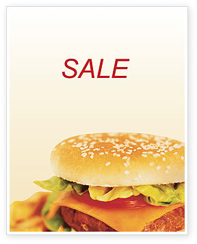 Fast Food Sale Poster Template, 01741, Food & Beverage — PoweredTemplate.com