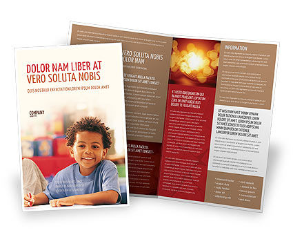 Basic Education Brochure Template, 01743, Education & Training — PoweredTemplate.com