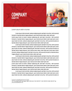 Basic Education Letterhead Template, 01743, Education & Training — PoweredTemplate.com