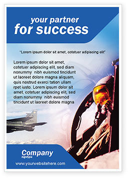 Fighter Aircraft Ad Template, 01747, Military — PoweredTemplate.com
