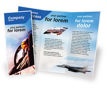 Military: Fighter Aircraft Brochure Template #01747