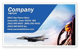 Fighter Aircraft Business Card Template, 01747, Military — PoweredTemplate.com