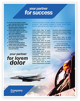 Fighter Aircraft Flyer Template