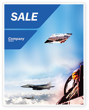 Fighter Aircraft Sale Poster Template, 01747, Military — PoweredTemplate.com