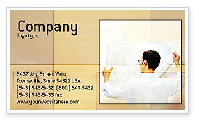 Construction: Building Architecture Business Card Template #01748