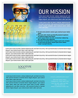 Technology, Science & Computers: Technology Development Flyer Template #01750