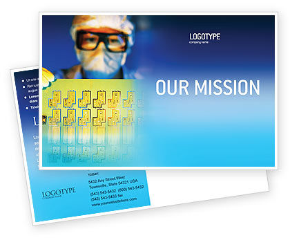 Technology, Science & Computers: Technology Development Postcard Template #01750