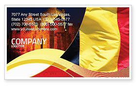 Flags/International: Belgian Flag Business Card Template #01751
