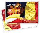 Flags/International: Belgian Flag Postcard Template #01751