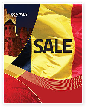 Belgian Flag Sale Poster Template