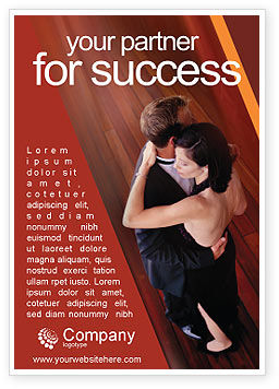 Dancing Couple Ad Template, 01762, Art & Entertainment — PoweredTemplate.com