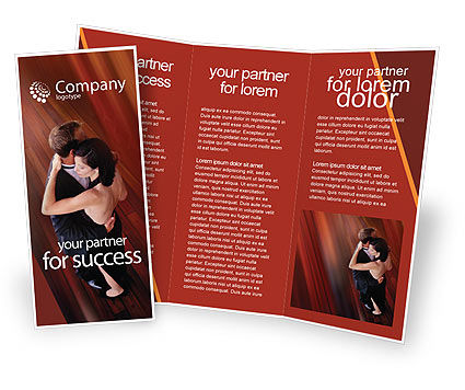 Art & Entertainment: Dancing Couple Brochure Template #01762