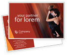 Art & Entertainment: Dancing Couple Postcard Template #01762