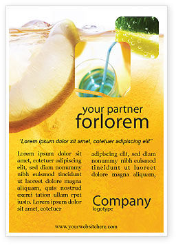 Food & Beverage: Cocktailfeestje Advertentie Template #01765