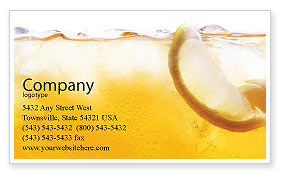 Cocktail Party Business Card Template, 01765, Food & Beverage — PoweredTemplate.com
