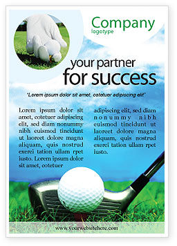 Sports: Golf Advertentie Template #01768