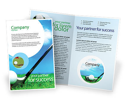 Golf Brochure Template, 01768, Sports — PoweredTemplate.com
