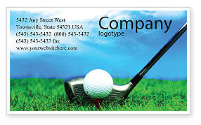 Sports: Golf Business Card Template #01768