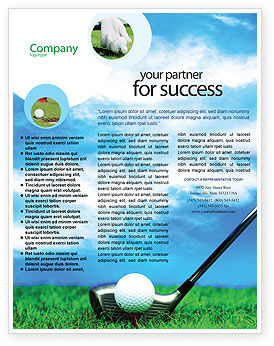 Sports: Modèle de Flyer de le golf #01768