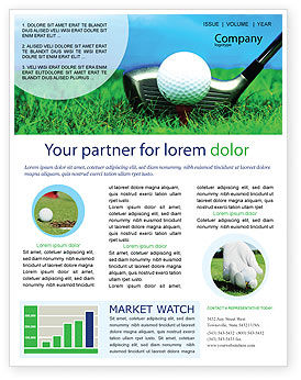 Sports: Golf Newsletter Template #01768