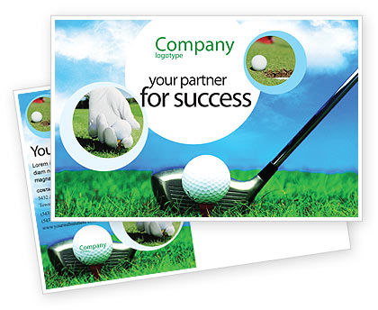 Golf Postcard Template