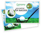 Sports: Golf Postcard Template #01768