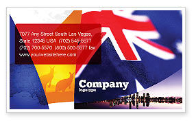 Flags/International: Australian Flag Business Card Template #01774