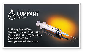 Medical: Shot Business Card Template #01775