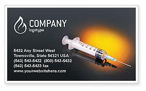 Shot Business Card Template, 01775, Medical — PoweredTemplate.com