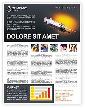 Shot Newsletter Template, 01775, Medical — PoweredTemplate.com