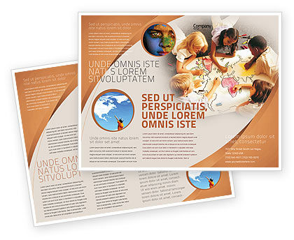 Primary School Geography Lesson Brochure Template, 01778, Education & Training — PoweredTemplate.com