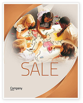 Primary School Geography Lesson Sale Poster Template