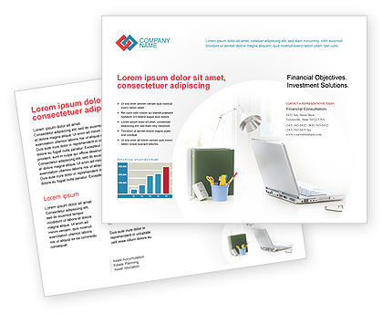 White Space With Laptop Brochure Template, 01783, Technology, Science & Computers — PoweredTemplate.com