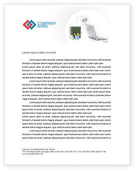 Technology, Science & Computers: White Space With Laptop Letterhead Template #01783
