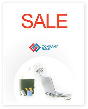 White Space With Laptop Sale Poster Template, 01783, Technology, Science & Computers — PoweredTemplate.com