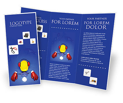 professional brochure templates free - professional safety brochure template design and layout