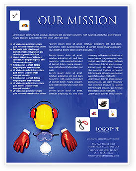 Utilities/Industrial: Templat Flyer Keamanan Profesional #01784