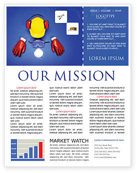Utilities/Industrial: Professional Safety Newsletter Template #01784