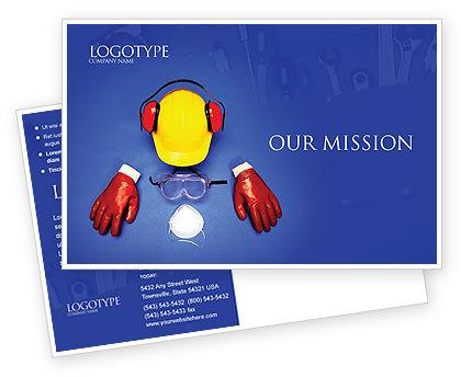 Professional Safety Postcard Template, 01784, Utilities/Industrial — PoweredTemplate.com