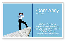 Business Concepts: Future Perspective Business Card Template #01788