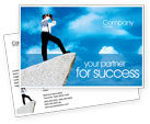 Business Concepts: Future Perspective Postcard Template #01788