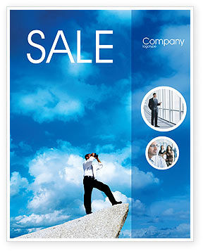 Business Concepts: Future Perspective Sale Poster Template #01788