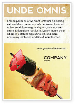 Barbeque Ad Template, 01794, Food & Beverage — PoweredTemplate.com