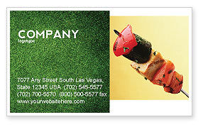 Food & Beverage: Barbeque Business Card Template #01794