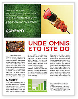 Barbeque Newsletter Template, 01794, Food & Beverage — PoweredTemplate.com