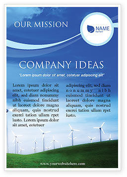 Technology, Science & Computers: Wind Energy Ad Template #01801