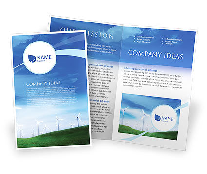 Wind Energy Brochure Template, 01801, Technology, Science & Computers — PoweredTemplate.com