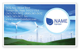 Technology, Science & Computers: Wind Energy Business Card Template #01801