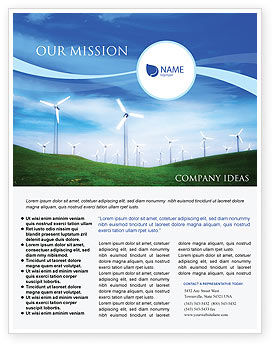 Technology, Science & Computers: Wind Energy Flyer Template #01801